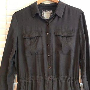 MAEVE CHARCOAL GRAY SHIRT DRESS SIZE 14